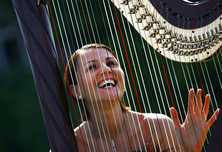 Aura Harpist London Wedding1