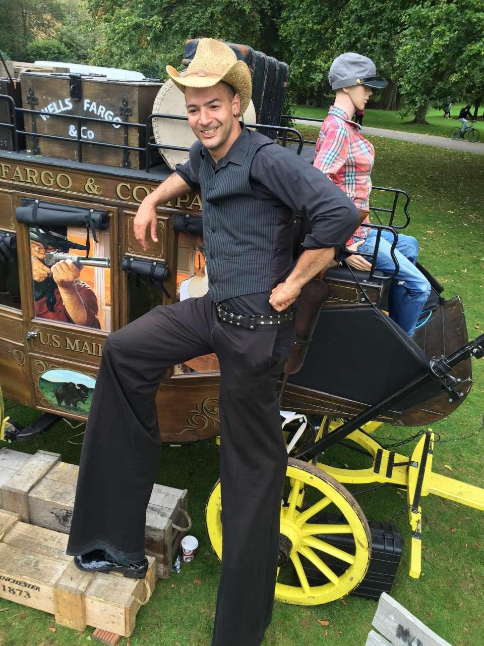 Cowboy on Stilts