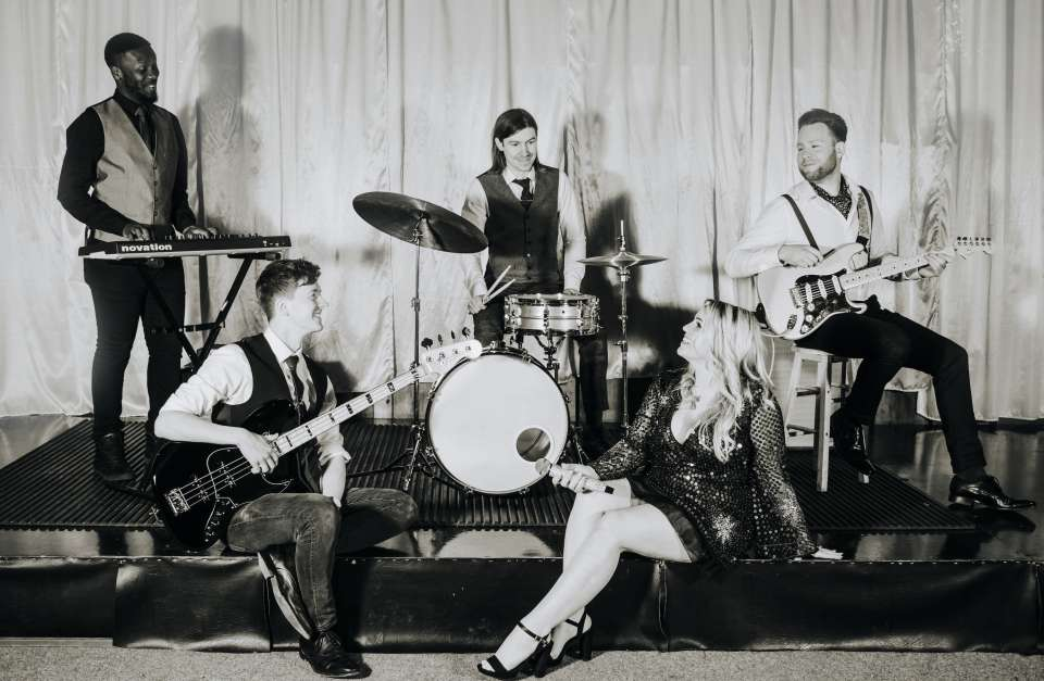 Electric Collective black and white wedding band nottingham