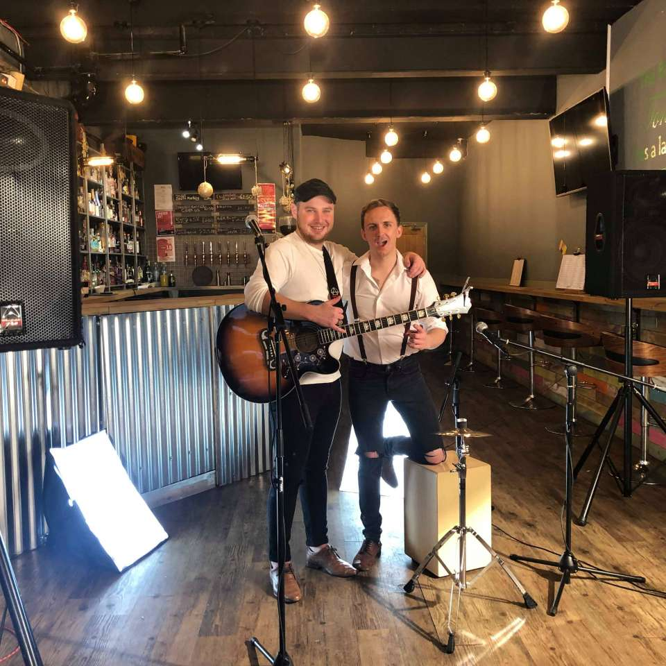 Acoustic male acoustic duo midlands