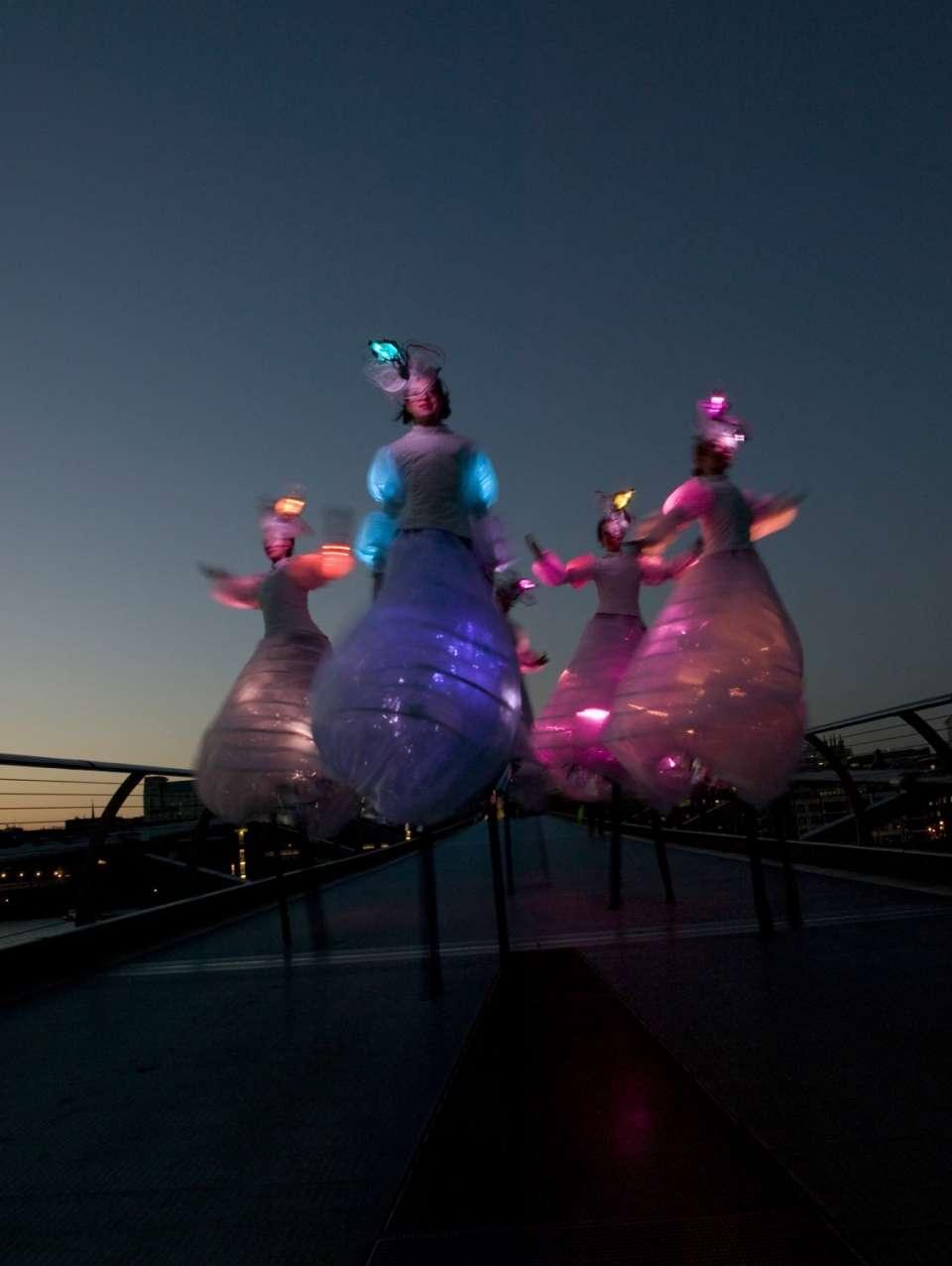 Glow Stilts London7